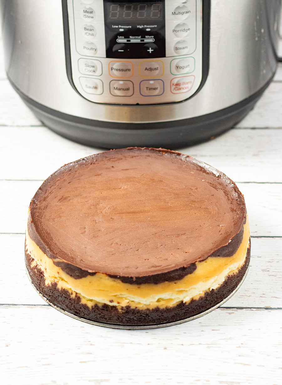fully cooked instant pot mounds cheesecake